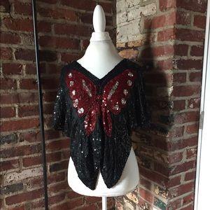 Vintage Gunit Sequins Top